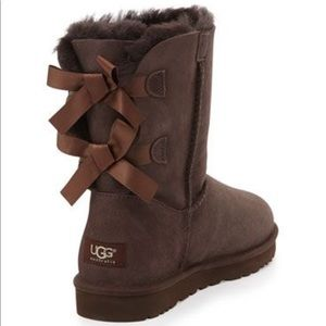 Bailey Bow Short Boot Uggs - Chocolate brown